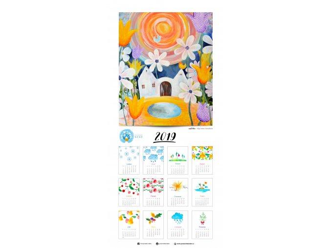 U nás v Tulipánově - kalendář (33 x 70 cm)