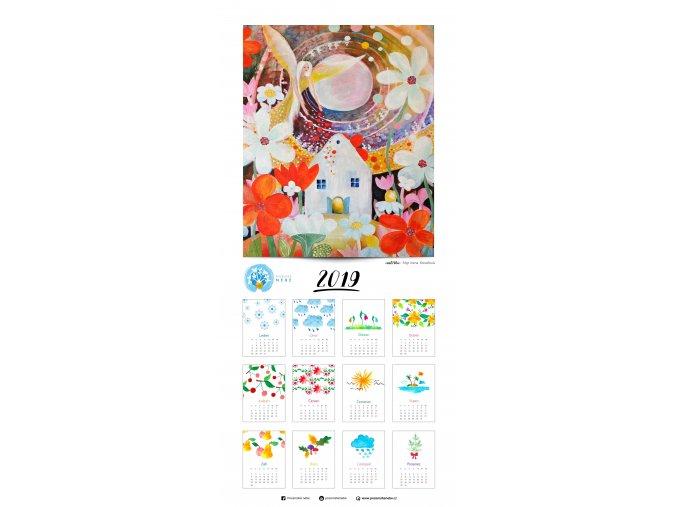 Anděl žehná zahrádkářům - kalendář (33 x 70 cm)