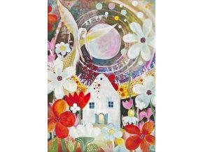 Anděl žehná zahrádkářům - plakát velký (51 x 71 cm)