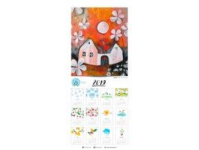 Dům, kde bydlí láska - kalendář (33 x 70 cm)
